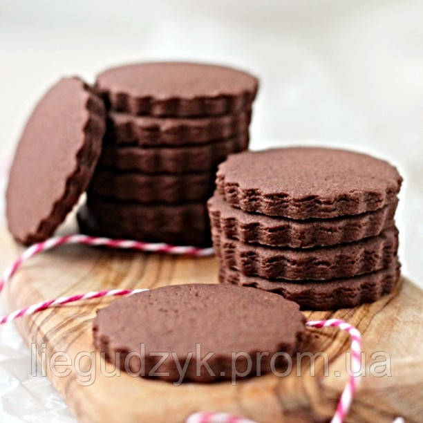 Шоколадне печиво для брендування [коло з рифленим краєм]