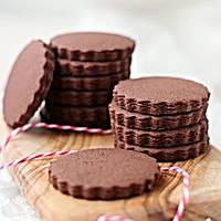 Шоколадне печиво для брендування [коло з рифленим краєм], фото 1