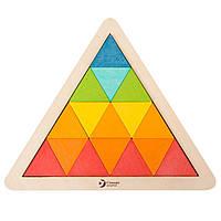 Деревянная мозаика-треугольник по карточкам Classic World