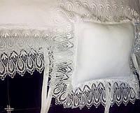 Льняное детское постельное белье с кружевом Sunny