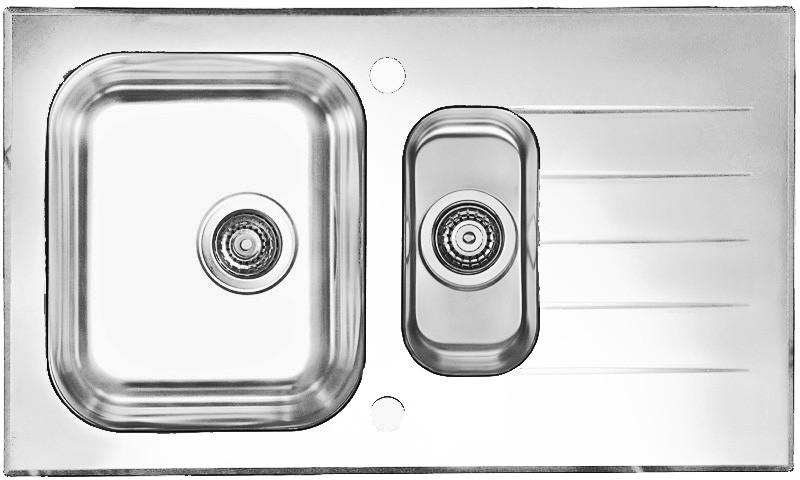 Кухонная мойка Alveus Glassix 20 (стекло белое) (с доставкой)