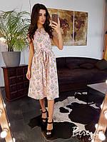 Льняное цветочное платье, фото 1