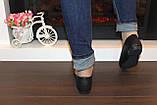 Балетки туфлі жіночі чорні з бантиком код Т248, фото 3