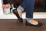 Балетки туфлі жіночі чорні з бантиком код Т248, фото 4