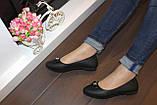 Балетки туфлі жіночі чорні з бантиком код Т248, фото 5