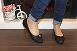 Балетки туфлі жіночі чорні з бантиком код Т248, фото 6