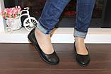 Туфли балетки женские черные натуральная кожа код Т251, фото 4
