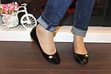 Балетки туфли женские черные лаковые Т259, фото 3