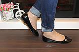 Балетки туфли женские черные лаковые Т259, фото 4