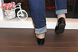Балетки туфли женские черные лаковые Т259, фото 6
