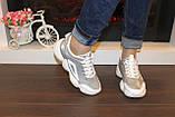 Кроссовки серые с белыми вставками код Т274, фото 4