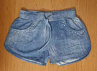 Короткие трикотажные шорты для девочки