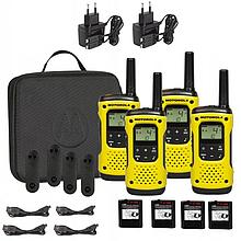 Портативная водонепроницаемая рация Motorola TLKR T92 H2O Yellow - 4 шт