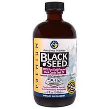 "Масло семян черного тмина Amazing Herbs ""Black Seed"" холодного отжима (240 мл)"