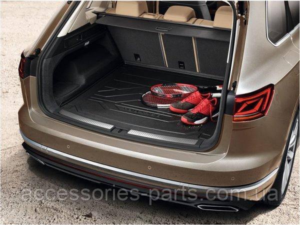 Коврик багажника резиновый VW Touareg 2018+ Новый Оригинальный