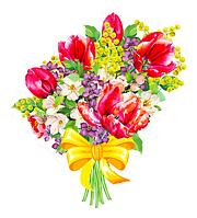 """Вырубка средняя увеличенная """"Букет цветов"""" 35х29"""