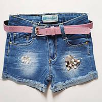 Джинсовые шорты  для девочки 3-8 лет Венгрия