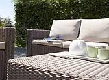Комплект садових меблів зі штучного ротангу CALIFORNIA 2 SEATER SET капучіно (Allibert), фото 10