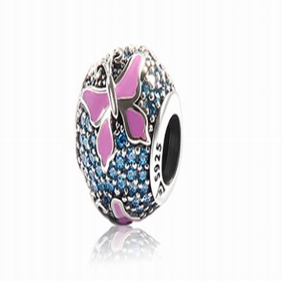 Серебряный шарм для браслета танцующая бабочка Барбарис