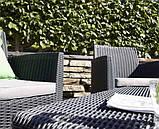 Комплект садових меблів зі штучного ротангу CORONA CUSHION SET WITH BOX графіт (Allibert), фото 8