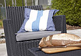Комплект садових меблів зі штучного ротангу CORONA CUSHION SET WITH BOX графіт (Allibert), фото 10