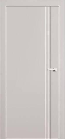 Двери L7+молдинг Полотно+коробка+2 к-кта наличников+добор 90 мм, крашенные, серия Lines, фото 2