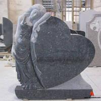 Эксклюзивный памятник ангел на могилу из гранита.