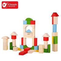 Деревянные блоки-конструктор Classic World