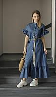Джинсовые платье для мамы и дочки