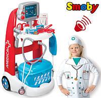 Тележка медицинской помощи Smoby набор доктора детский 340202