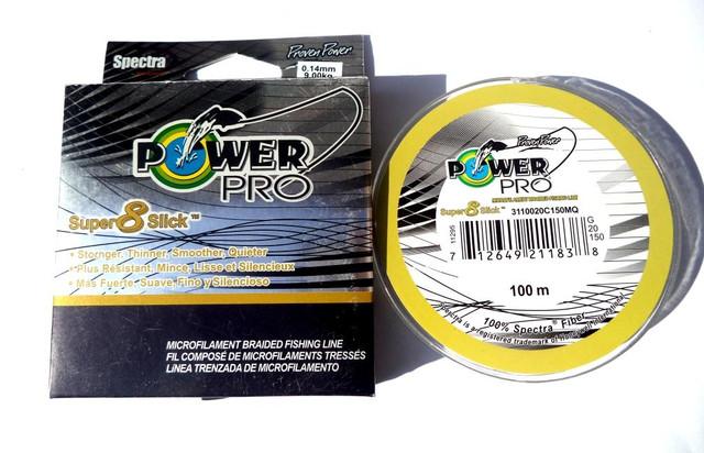 Шнур Power Pro Super 8 Slick все размеры