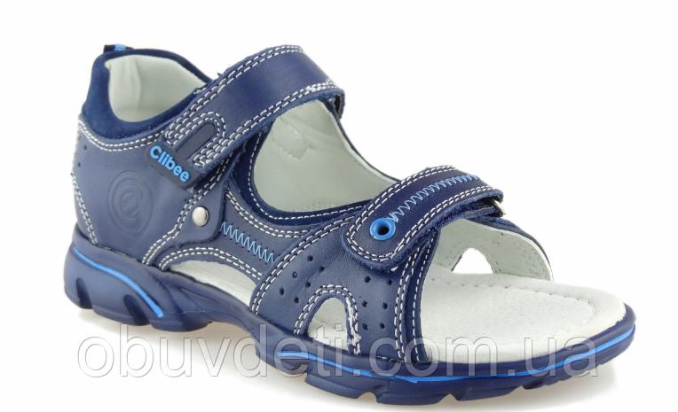 Босоножки кожаные детские clibee для мальчика 32р-20.5 см: