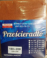 Простынь наматрасник 180х200 махровая на резинке. Польша.