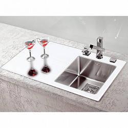 Кухонная мойка Alveus CRYSTALIX 10R (стекло белое) (с доставкой), фото 2