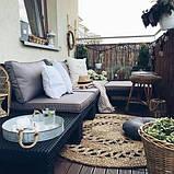 Комплект садових меблів зі штучного ротангу NEVADA LOW SET графіт ( Allibert ), фото 5