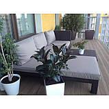 Комплект садових меблів зі штучного ротангу NEVADA LOW SET графіт ( Allibert ), фото 7