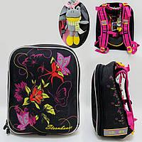 """14101 Рюкзак """"черепашка""""  для девочки """"Цветы"""". Брелок-игрушка в подарок"""