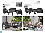 Комплект меблів зі штучного ротангу CHICAGO SET WITH SMALL TABLE графіт, фото 10