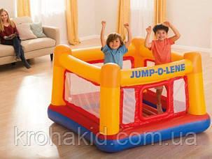 Детский надувной батут Замок Intex 48260, надувной центр 174х174х114 см, вес 8.5 кг, выдержка до 55 кг, фото 2