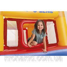 Детский надувной батут Замок Intex 48260, надувной центр 174х174х114 см, вес 8.5 кг, выдержка до 55 кг, фото 3