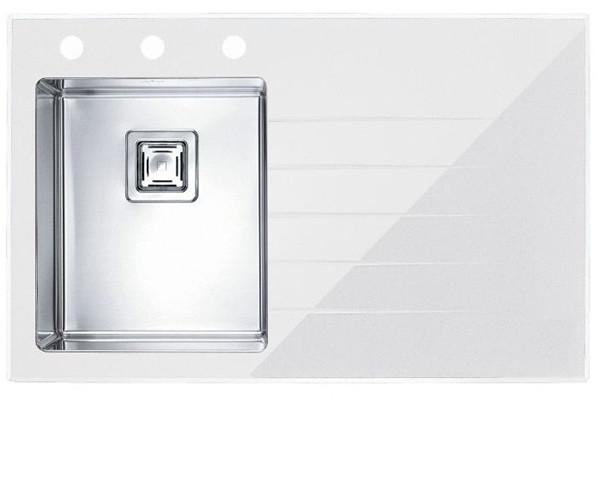 Кухонная мойка Alveus CRYSTALIX 10L (стекло белое) (с доставкой)