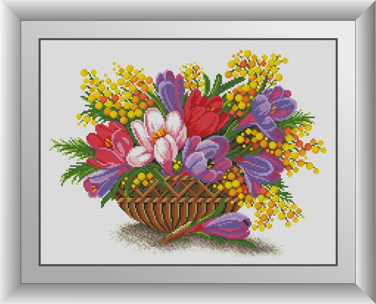 Алмазная мозаика Крокусы в вазе Dream Art 30852 (38 х 50 см)