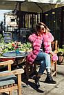 Жилетка  Женская Песцовая Удлиненная 90 см Розовая код 004 ОЖ, фото 9