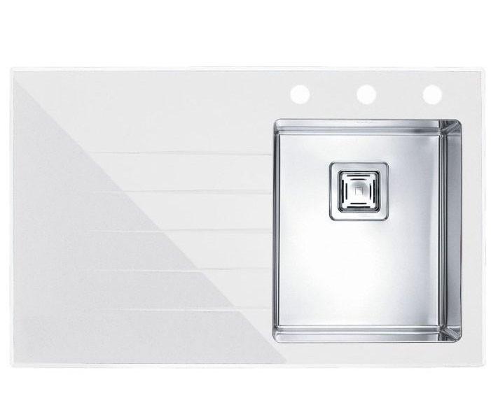 Кухонная мойка Alveus CRYSTALIX 10R (стекло белое) (с доставкой)