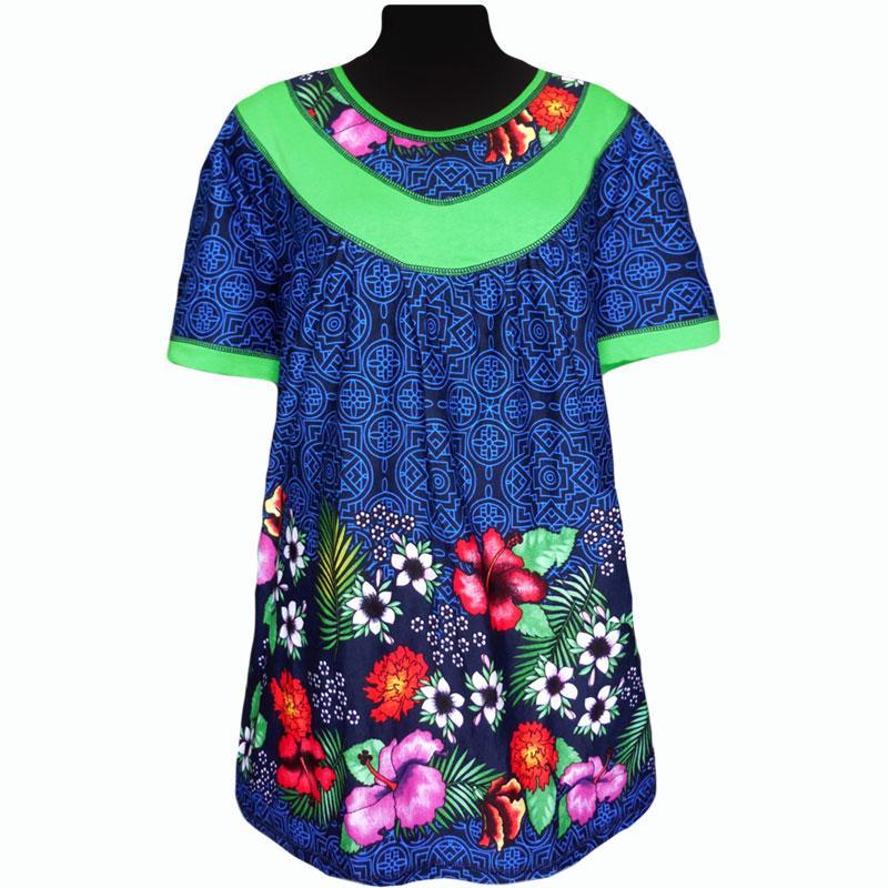 Туника купонная летняя в цветах