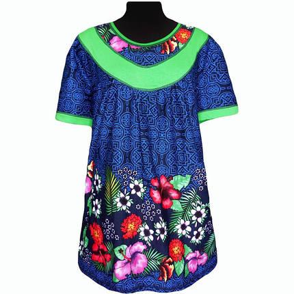 Туника купонная летняя в цветах, фото 2