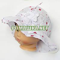 Детская р 50 1 2 года летняя панамка девочке для девочки детей ребёнка на лето тонкая легкая 3559 Красній