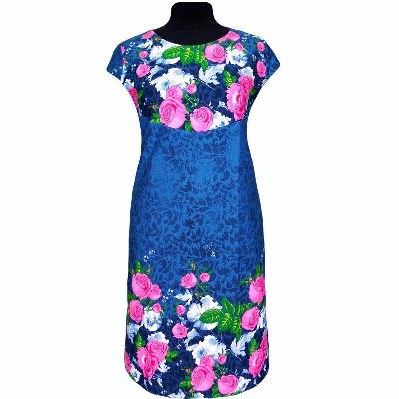 Платье купонное в розах
