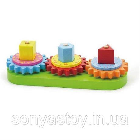 """Развивающая игра """"Шестеренки"""", для изучения цвета, форм, 2+"""