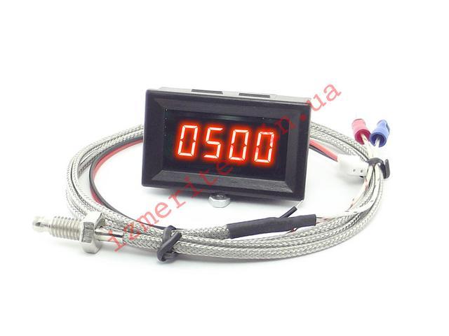 Высокотемпературный цифровой термометр -50...800 °C 12В